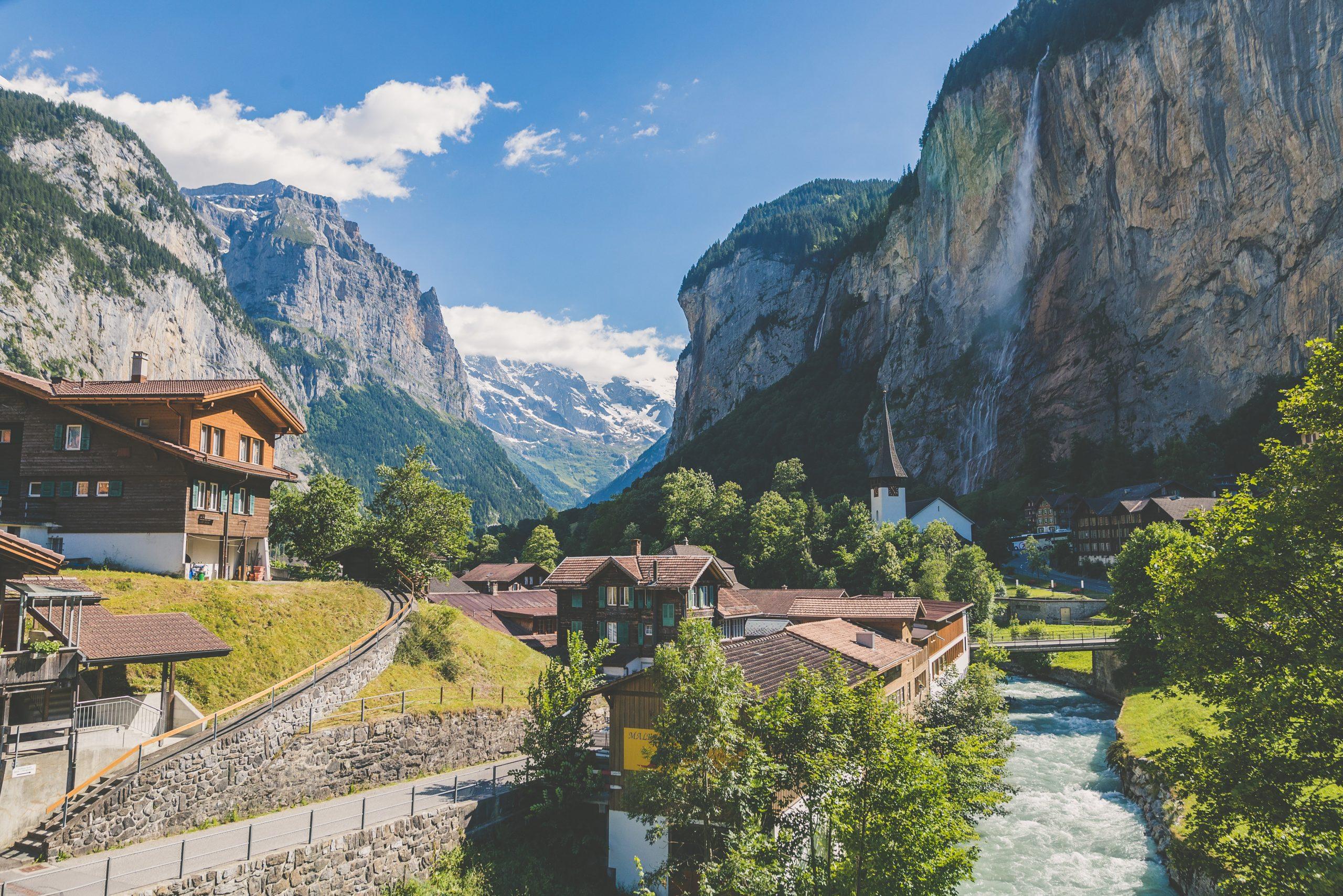 Bild von den Schweizer Bergen